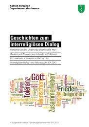 Geschichten zum interreligiösen Dialog - Integration - Kanton St ...
