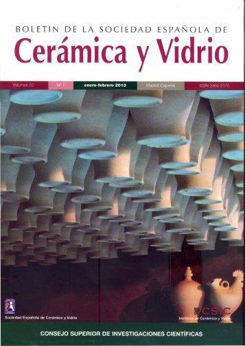 Boletín de la Sociedad Española de Cerámica y Vidrio, vol. 52, n°1 ...