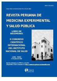 revista peruana de medicina experimental y salud pública - Instituto ...
