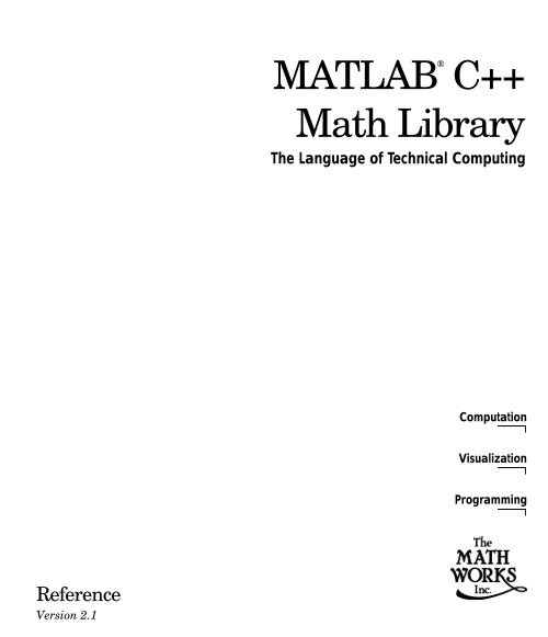 MATLAB C++ Math Library Reference
