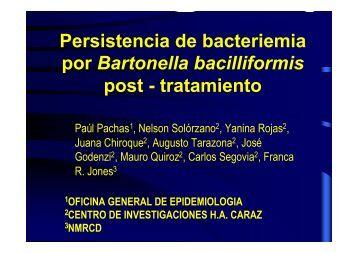 Persistencia de bacteriemia por Bartonella bacilliformis post ...