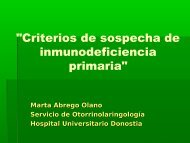 Criterios de sospecha de Inmunodeficiencia Primaria