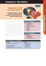 Diamond & CBN Grinding Wheels - Grindwell Norton