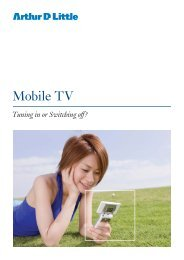 Tuning In Or Switching Off? - Arthur D. Little