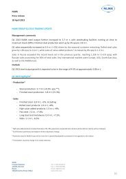Trading update press-release (Q1 2013) - NLMK Group