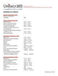 Schedule at a Glance - UNITECR 2013