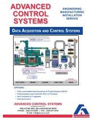 ADVANCED CONTROL SYSTEMS - ACS, Inc