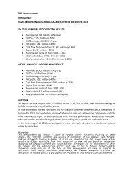 Q3 2012 US GAAP Results - NLMK Group