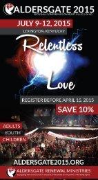 Aldersgate 2015 Conference Brochure