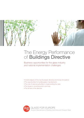 The Energy Performance of Buildings Directive - Glass for Europe