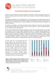 Sustainable buildings: the case of glazing - Glass for Europe