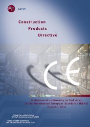 Evaluation of Conformity - Glass for Europe