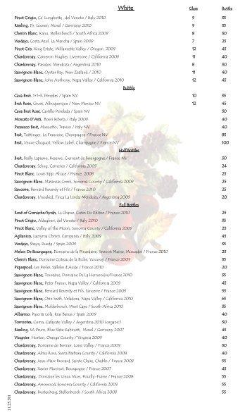 Menu PDF - Black Market Bistro
