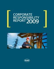 Corporate responsibility report - NLMK Group