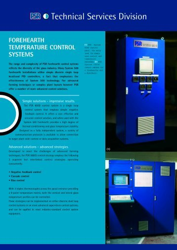forehearth temperature control systems - Parkinson-Spencer ...