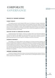 Corporate governance - Annual report 2004 - NLMK Group