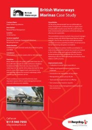 British Waterways Marinas Case Study - Wastecycle