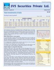 SVS Securities Pri SVS Securities Private Ltd. - svs securities pvt. ltd.