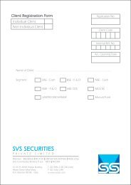 Trading Account Opening KYC Form - svs securities pvt. ltd.