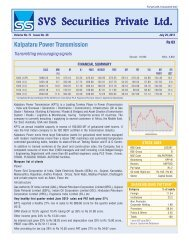 Kalpataru Power Transmission - svs securities pvt. ltd.
