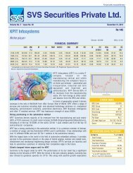 SVS Securities Private Ltd. - svs securities pvt. ltd.