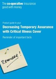Decreasing Temporary Assurance with Critical ... - Royal London