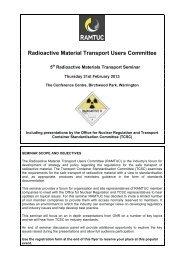Fourth Radioactive Materials Transport Seminar - Ramtuc