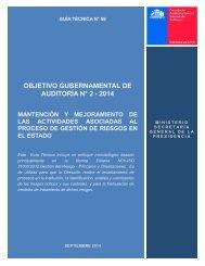 OBJETIVO GUBERNAMENTAL DE AUDITORÍA N° 2 - 2014