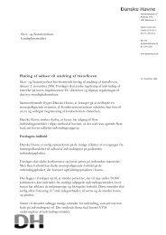 Høring af udkast til ændring af råstofloven - Danske Havne