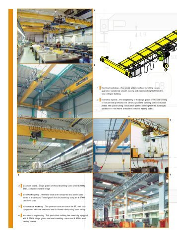 Single girder overhead travelling crane - Rotomatik