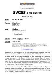 SWISS & DIE ANDERN - Krasscore