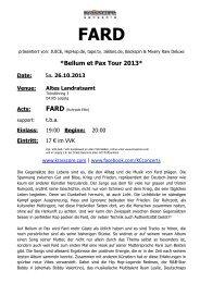 Bellum et Pax Tour 2013* Date - Krasscore