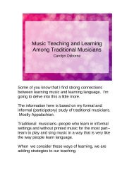 Music Teaching and Learning Among Traditional ... - LiteracyMethods