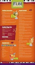 Restaurant/Bar Menu - RumShack