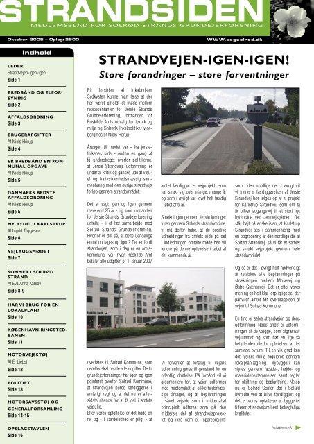 Strandsiden oktober 2005 side 1-3 - Solrød Strands Grundejerforening
