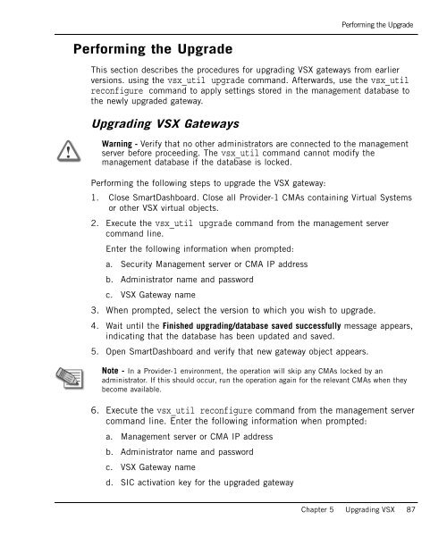 Upgrading VSX Gateways Up