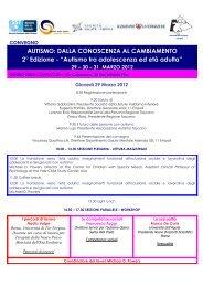 Il programma del convegno - Associazione Autismo Toscana