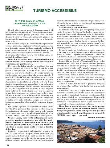 Turismo Accessibile - Comunità Piergiorgio