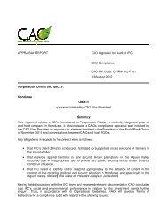 APPRAISAL REPORT Corporación Dinant S.A. de C.V. Honduras ...