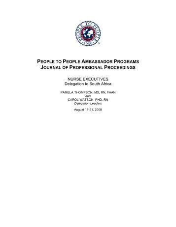 Sample interview questions - People to People Ambassador Programs