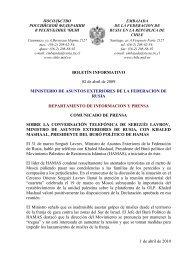 BOLETÍN INFORMATIVO 02 de abril de 2009 MINISTERIO DE ...