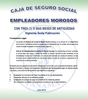 provincia de colon - Caja del Seguro Social