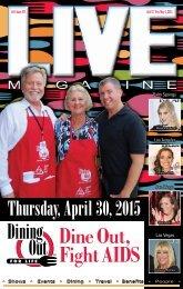 LIVE MAGAZINE VOL 8, Issue #207 April 17th THRU May 1st, 2015