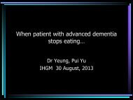 When patient with advanced dementia stops eating...