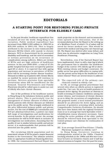 EDITORIALS - The Hong Kong Geriatrics Society