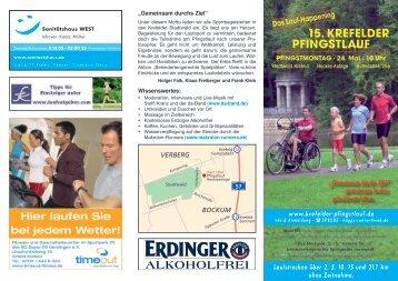 Das Lauf-Happening 15. KREFELDER PFINGSTLAUF ...