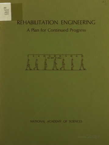 Rehabilitation Engineering--A Plan for Continued Progress