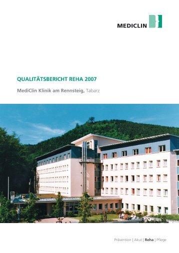 Qualitätsbericht Reha 2007 - MediClin Klinik am Rennsteig