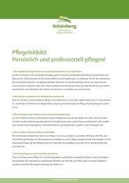 Pflegeleitbild: Persönlich und professionell ... - Schönberg Pflege