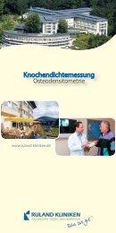 Knochendichtemessung - ACURA SIGEL Klinik